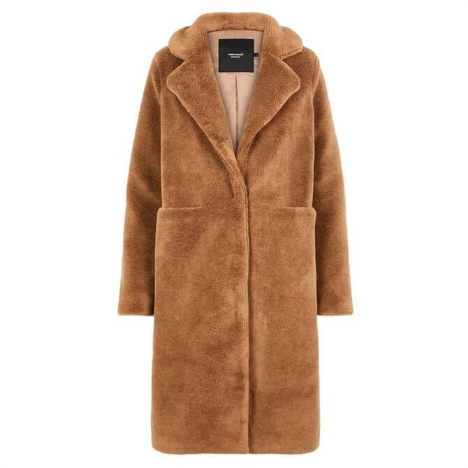 Vero Moda Holly Long Teddy Coat