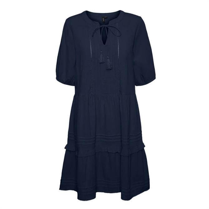 Vero Moda Ibia Embroidered Tunic Dress