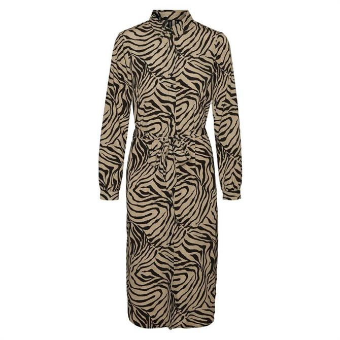Vero Moda Lisa Animal Graphic Print Shirt Dress