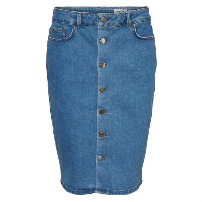Vero Moda Mina Denim Buttoned Denim Skirt