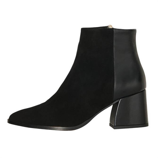 Vero Moda Nola Contrast Leather Ankle Boots