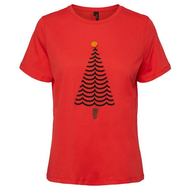Vero Moda Olly Festive Slogan T-Shirt