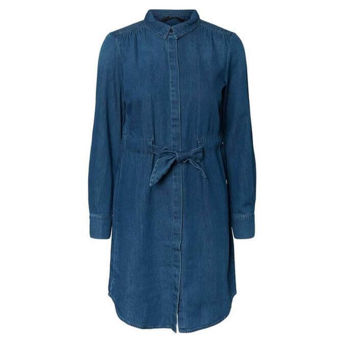 Vero Moda Rachel Denim Bow Shirt Dress