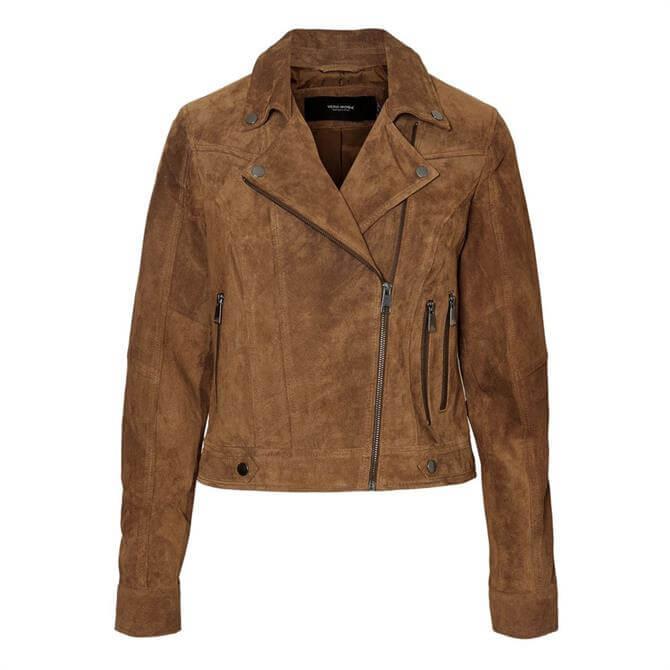Vero Moda Royce Suede Leather Jacket