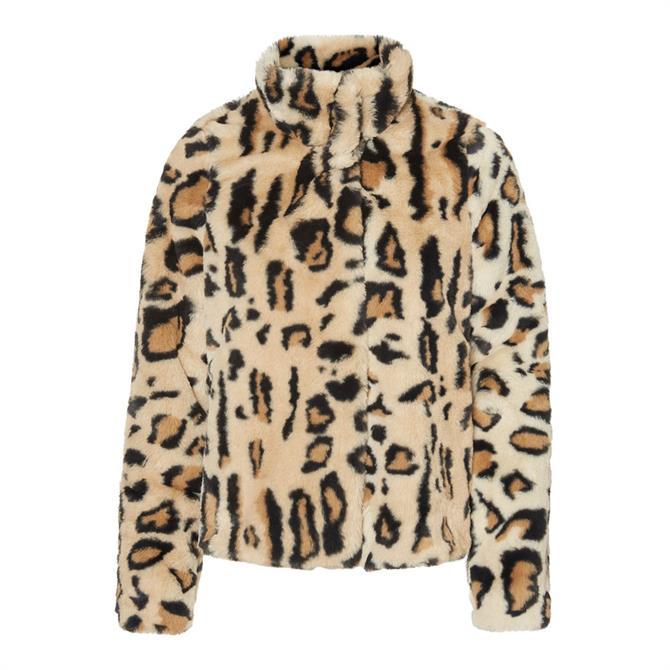 Vero Moda Thea Leo Faux Fur Jacket