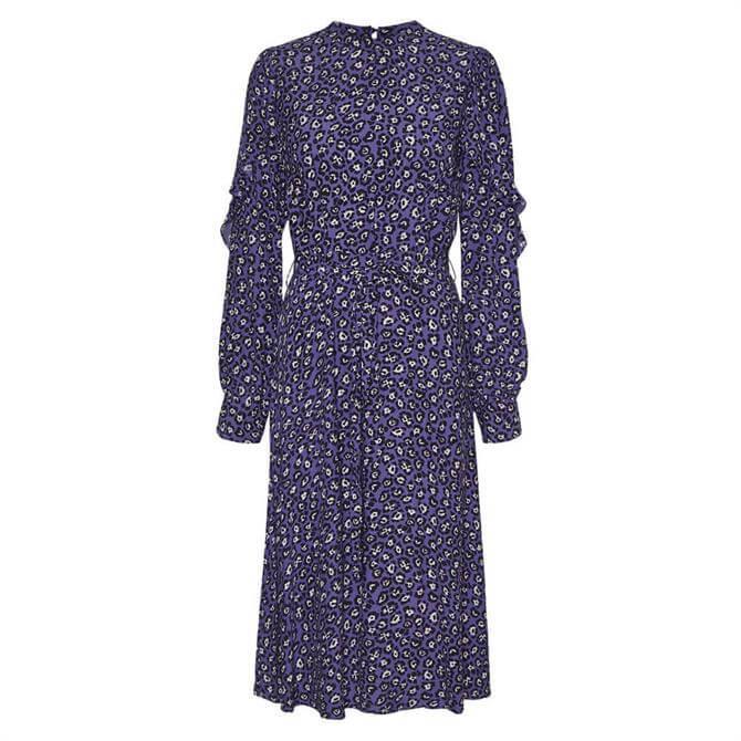 Vero Moda Patterned Frill Midi Dress