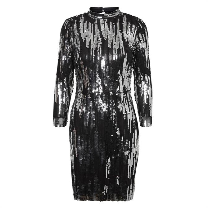 Vero Moda Mira High Neck Glitter Dress