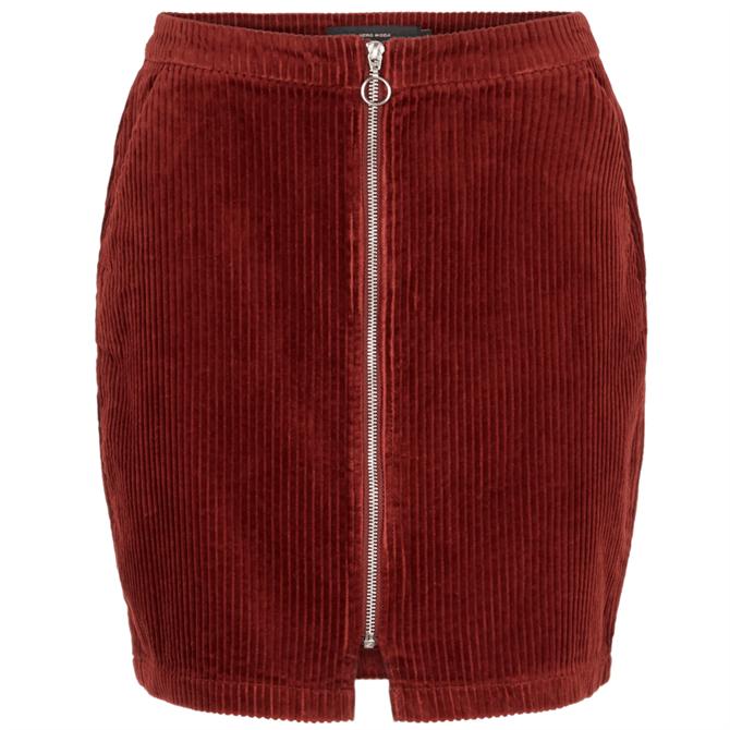 Vero Moda Lola Corduroy Zipper Skirt