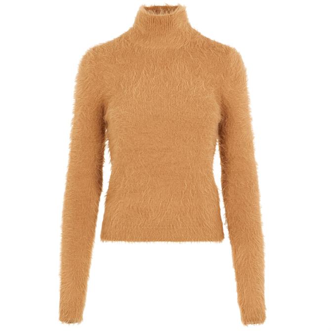Vero Moda Poilu Furry Knit Roll Neck Sweater