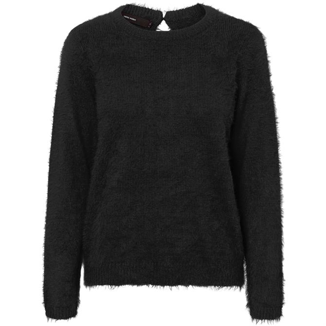 Vero Moda Round Neck Furry Knit Sweater