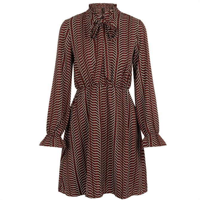 Vero Moda Zenac Geo Print Long Sleeve Dress