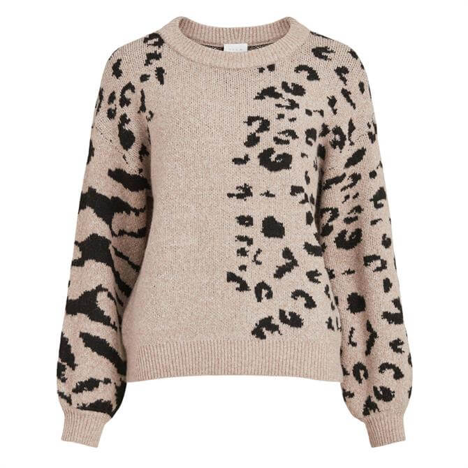 Vila Aila Animal Print Sweater