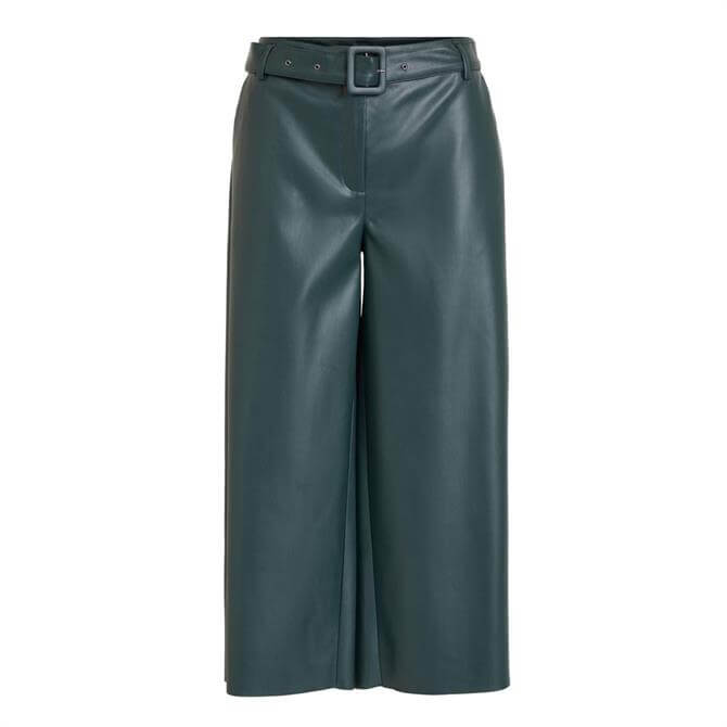 Vila Dolores Wide Cropped Coated Trouser