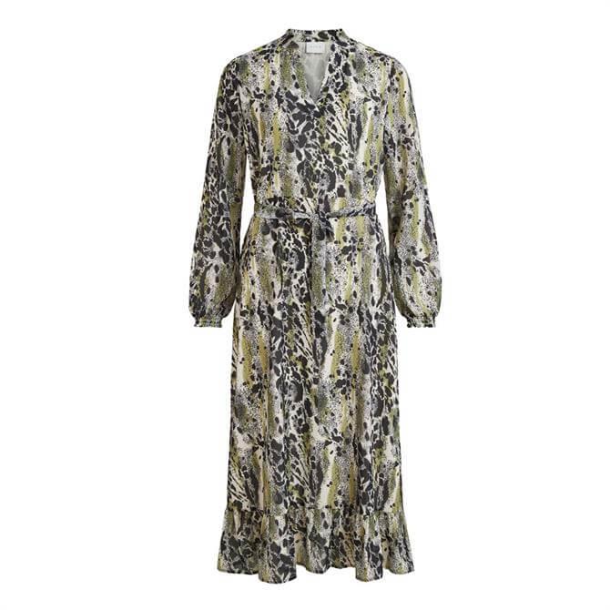 Vila Jemo Printed Midi Dress