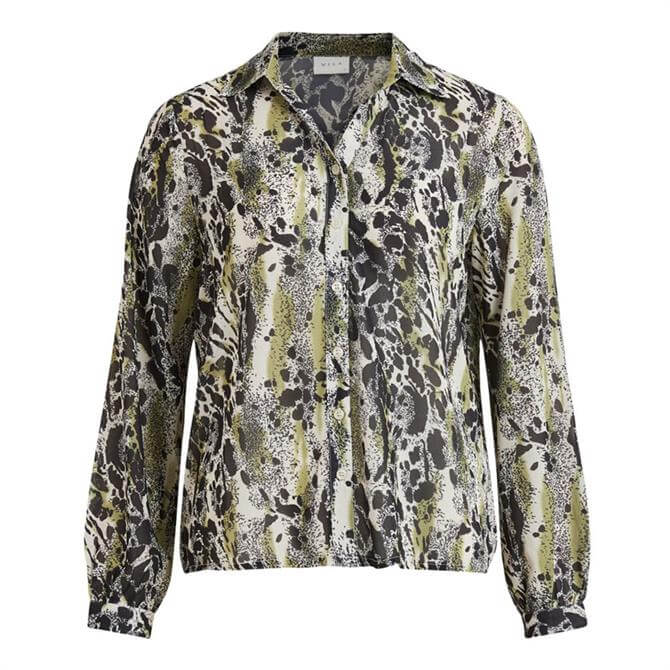 Vila Jemo Printed Long Sleeved Shirt