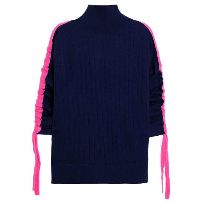Vilagallo Daniella Navy Pink Stripe Jumper