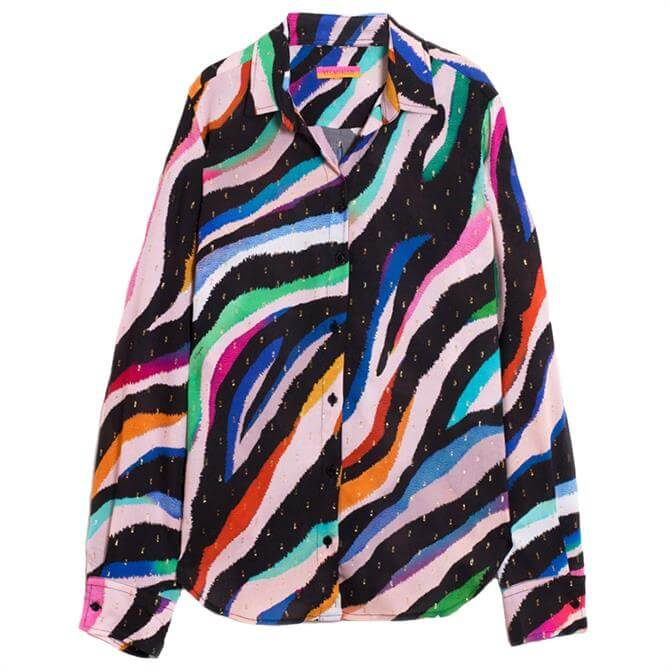Vilagallo Gaby Grevy Zebra Print Shirt