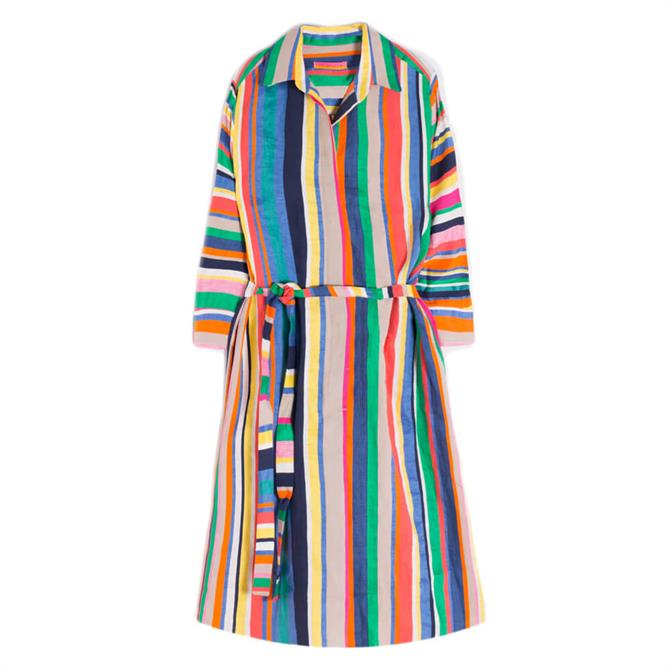 Vilagallo Adriana Fiji Stripe Shirt Dress