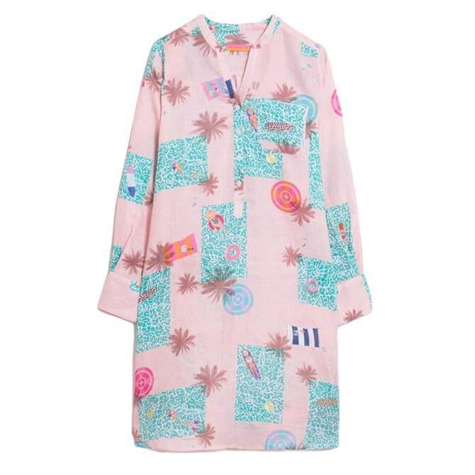 Vilagallo Danett Melrose Pool Print Tunic Dress