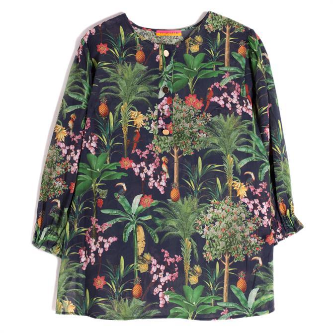 Vilagallo Karen Jungle Print Shirt