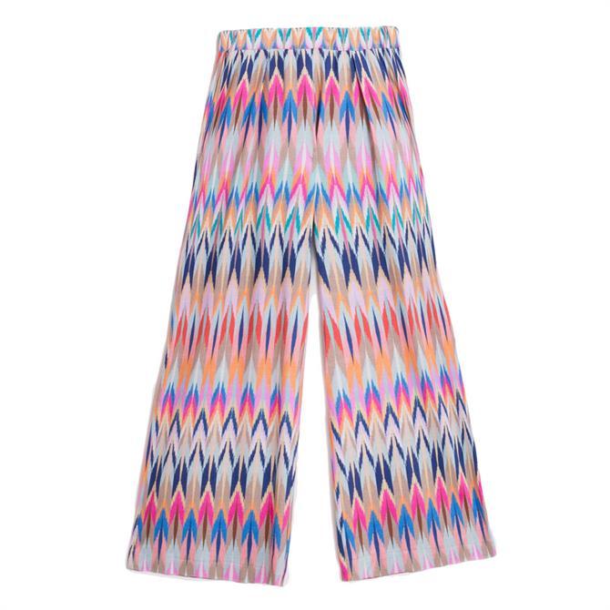 Vilagallo Luna Bunaken Ikat Print Trousers