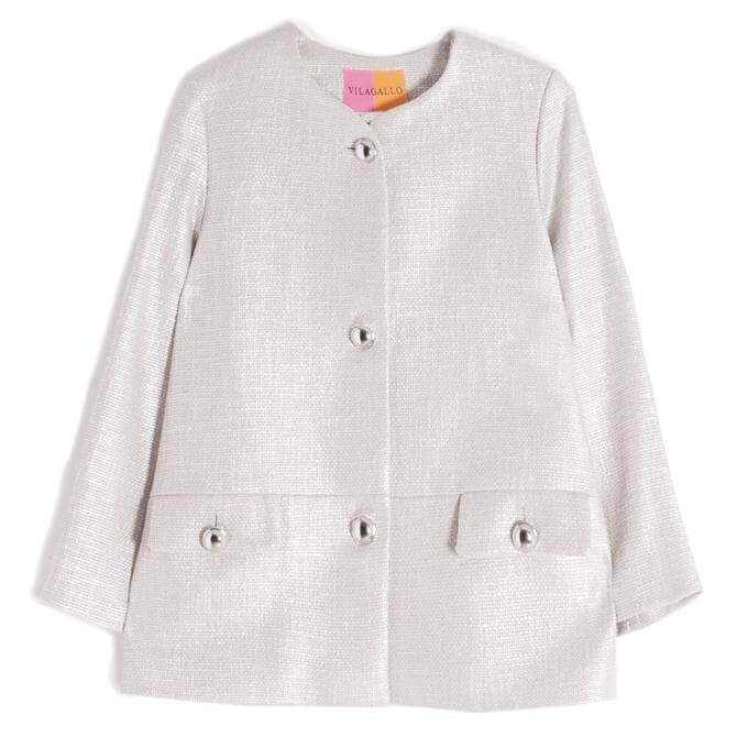 Vilagallo Paula Shimmer Cotton Short Jacket