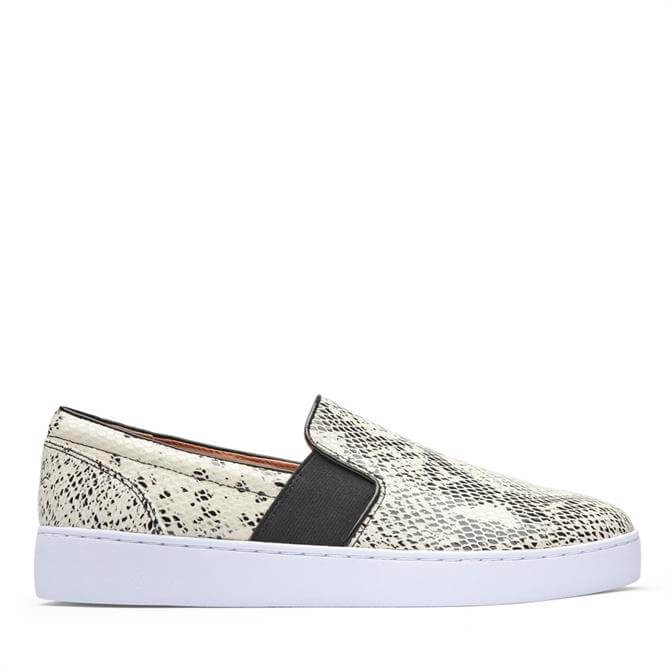 Vionic Demetra Slip On Trainers in Black and White Snake Print