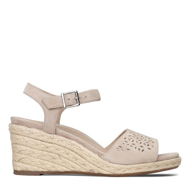 Vionic Ariel Wedge Sandal in Beige