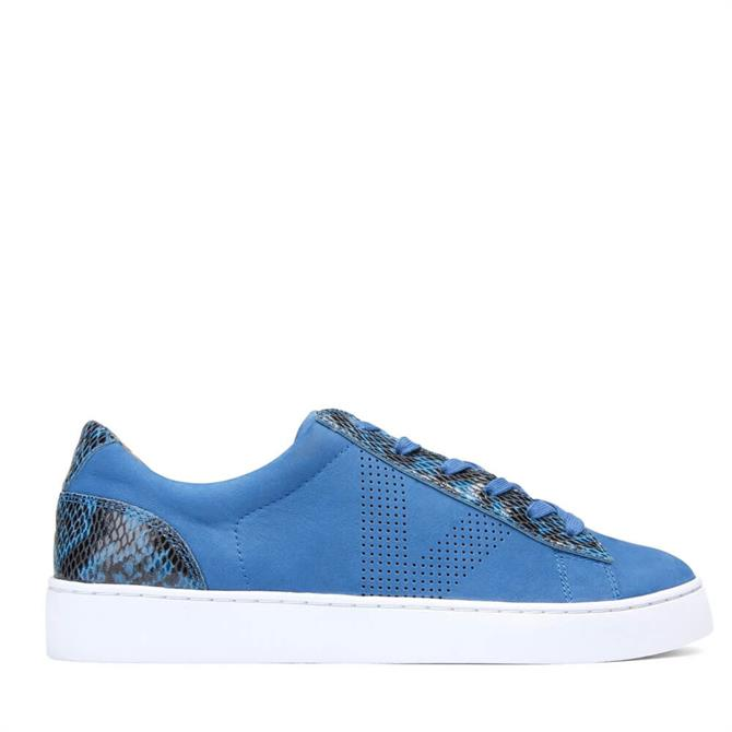 Vionic Honey Lace Up Blue Leather Trainer
