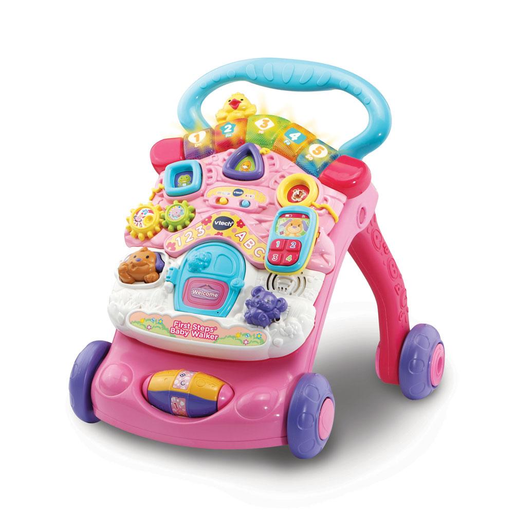An image of Vtech 1st Steps Baby Walker Pink - PINK
