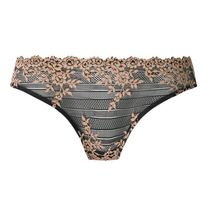 Wacoal Embrace Lace Ebony Sand Bikini Brief