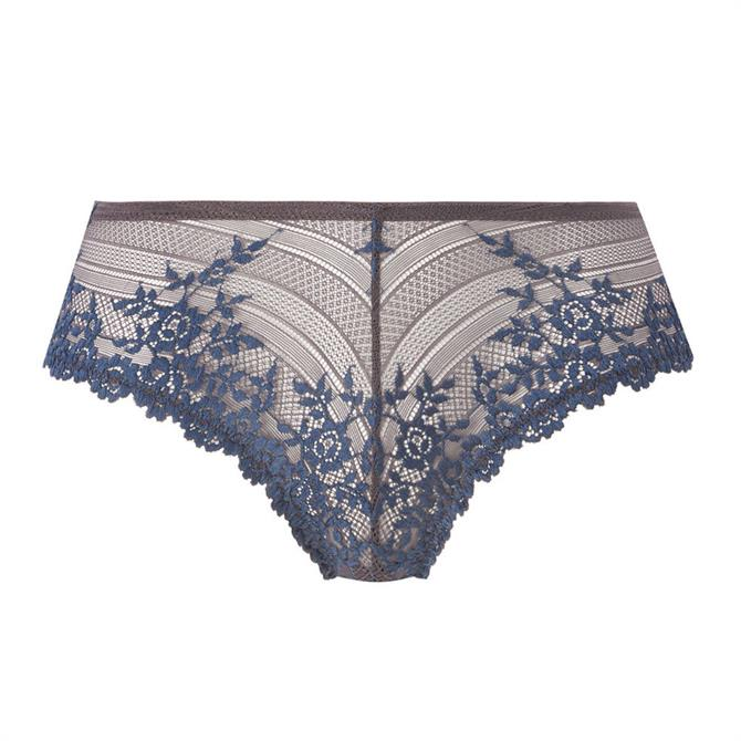Wacoal Embrace Lace Iron Blue Tanga