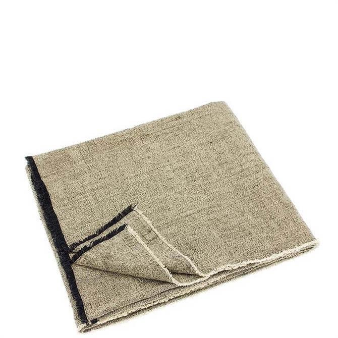 Walton & Co Charcoal Linen & Cotton Throw