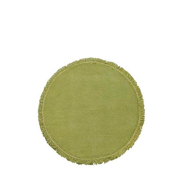 Walton & Co Olive Circular Jute Placemat