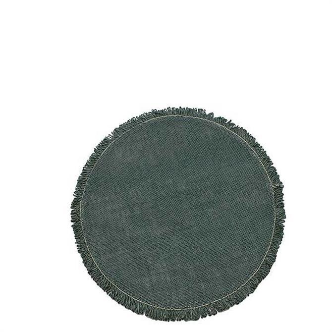 Walton & Co Slate Green Circular Jute Placemat