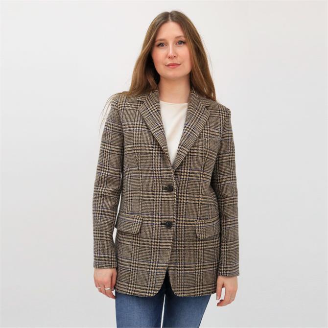Weekend Max Mara Ondina Prince of Wales Check Blazer Jacket