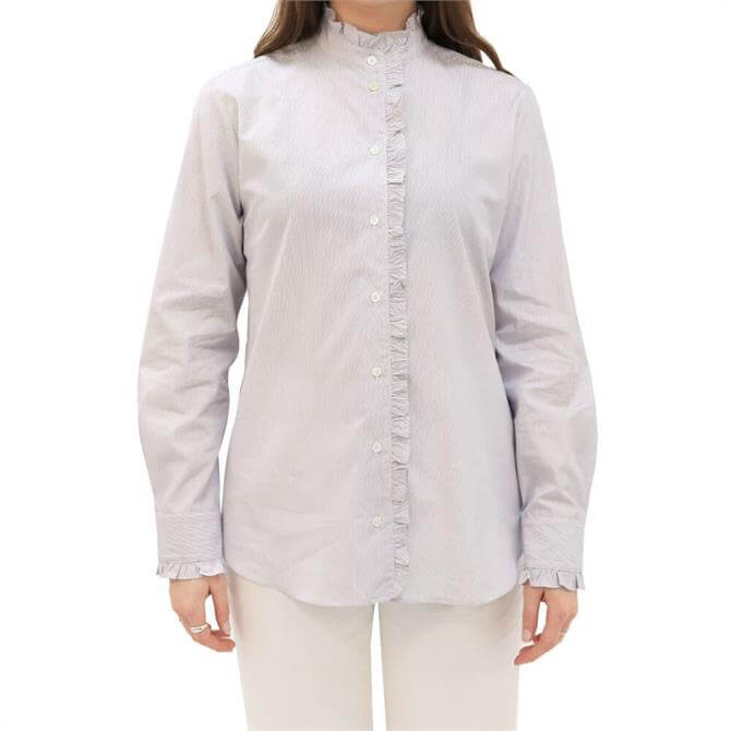 Weekend Max Mara Afgano Cotton Ruffle Detail Shirt