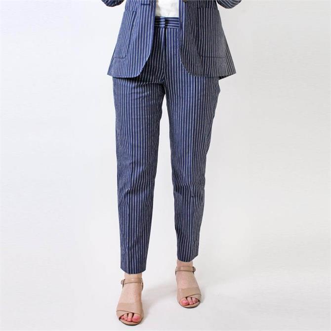 Weekend Max Mara Aral Striped Seersucker Trousers