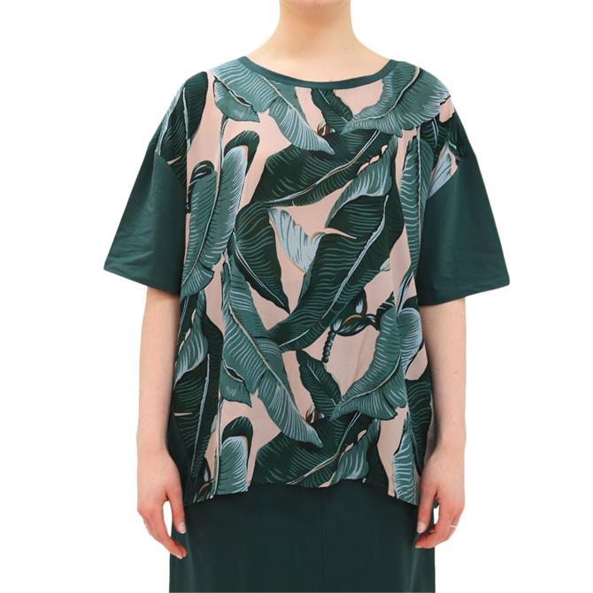 Weekend Max Mara Ariete Silk Crepe De Chine Printed T-Shirt