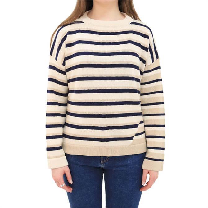 Weekend Max Mara Auronzo Striped Cotton Sweater