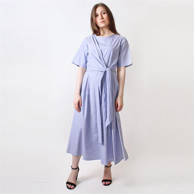 Weekend Max Mara Dedalo Tie Waist Flared Dress