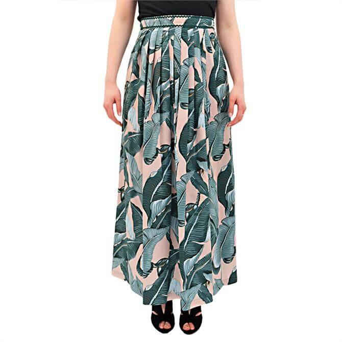 Weekend Max Mara Eguale Leaf Print Maxi Skirt
