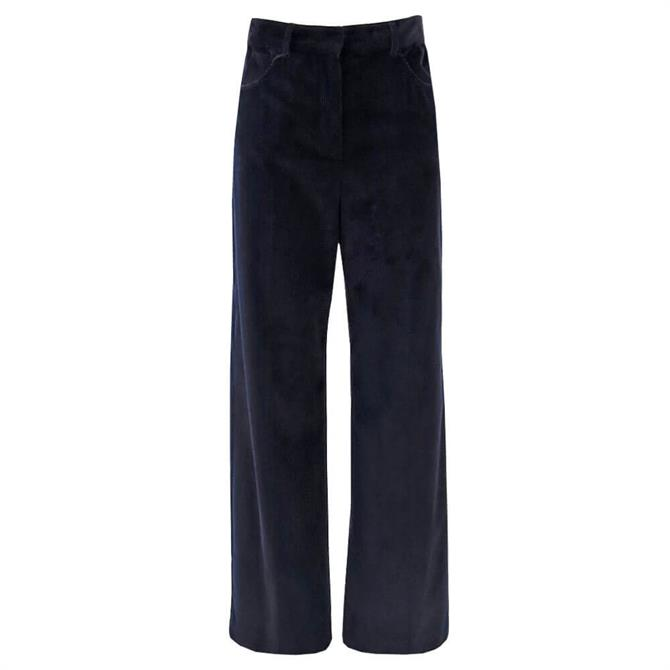 Weekend Max Mara Ghiglia Cotton Velvet Trousers