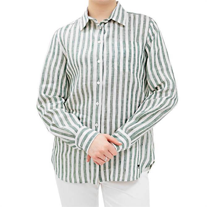Weekend Max Mara Guinea Striped Linen Shirt
