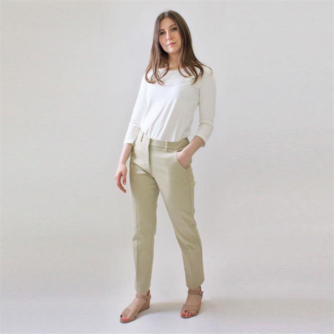 Weekend Max Mara Legenda Straight Fit Cotton Trouser