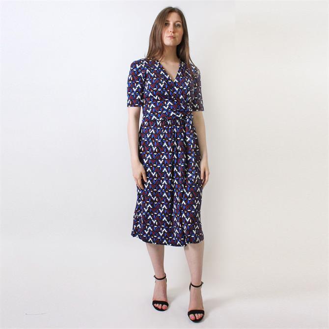 Weekend Max Mara Mirto Patterned Tie Waist Dress