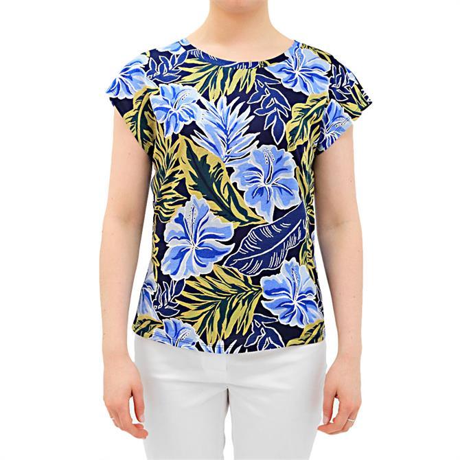 Weekend Max Mara Mirto Floral Print Cotton T-Shirt