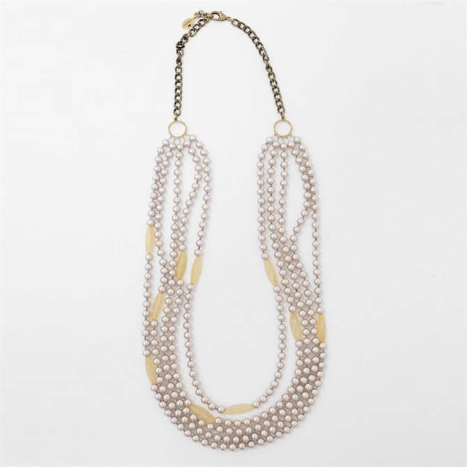 Weekend Max Mara Negus Multi-Strand Peal Necklace