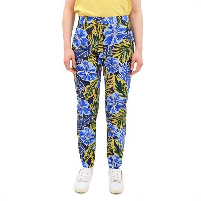 Weekend Max Mara Okra Floral Print Trousers