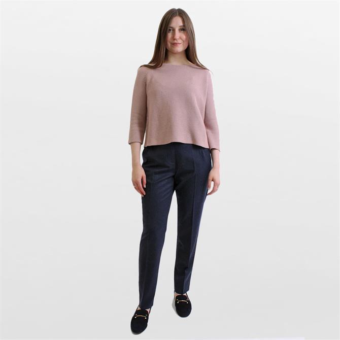 Weekend Max Mara Ondata Wool Flannel Trousers